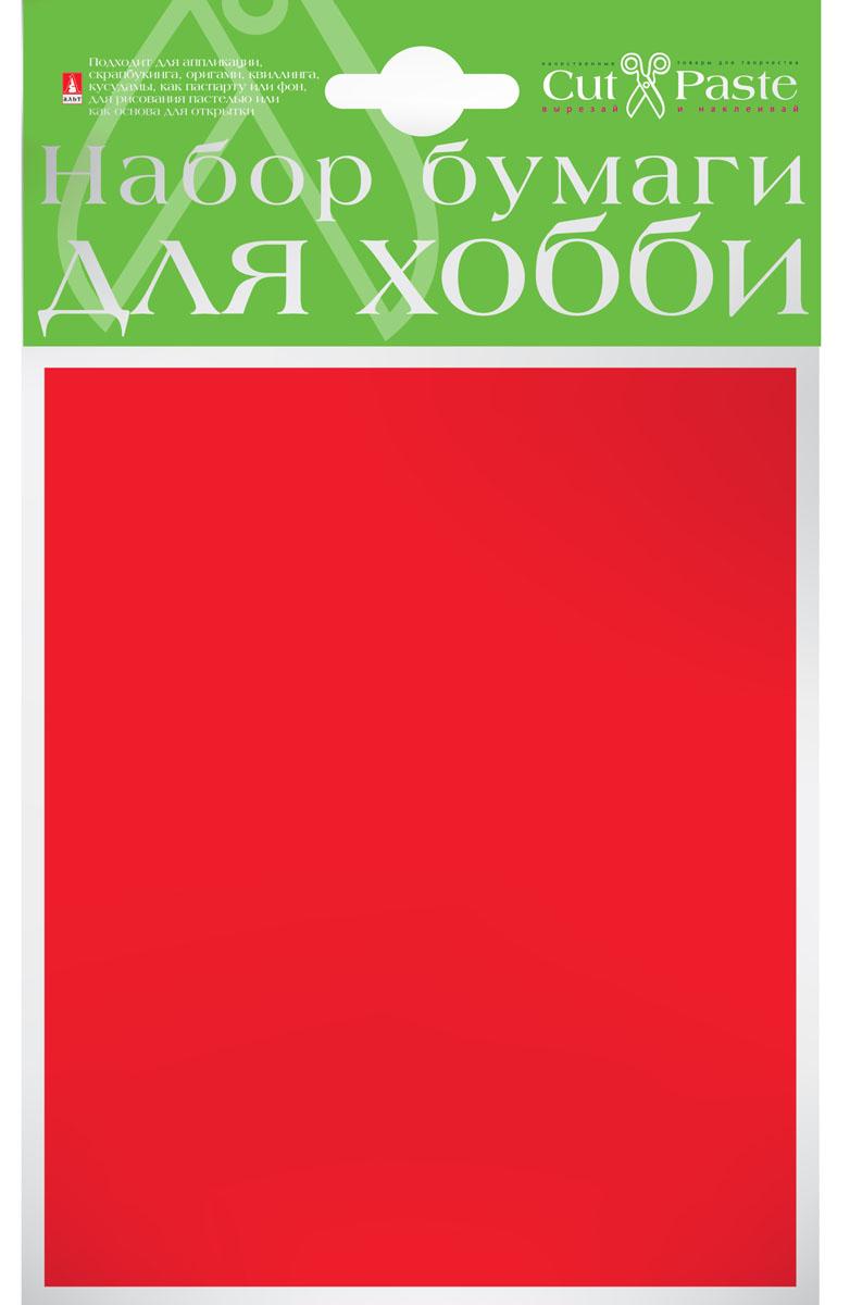 Альт Набор бумаги для хобби цвет красный 10 листов