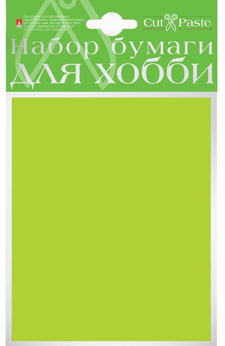 Альт Набор бумаги для хобби цвет светло-зеленый 10 листов
