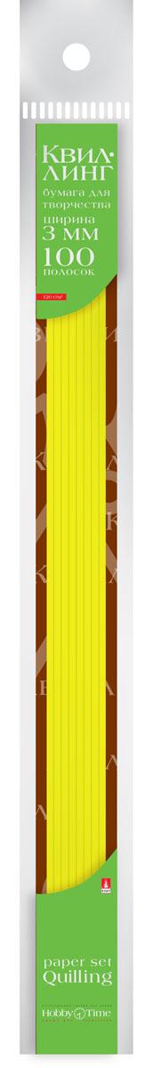 Альт Бумага для квиллинга 3 мм 100 полос цвет желтый 2-069/01