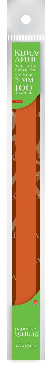 Альт Бумага для квиллинга 3 мм 100 полос цвет коричневый 2-069/09