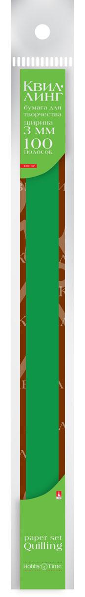 Альт Бумага для квиллинга 3 мм 100 полос цвет темно-зеленый 2-069/04