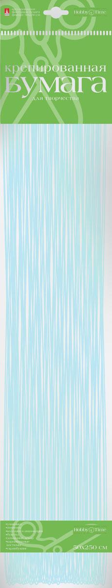 Альт Бумага креповая Перламутровая цвет голубой2-062/05Креповая бумага Альт Перламутровая - подходящий материал для декора, объемных украшений и игрушек. Гофрированная жатая поверхность обеспечивает особую пластичность. Бумага не деформируется, сохраняет заданную форму, отлично сочетается с текстильными лентами, декоративными элементами. Размер листа: 50 см х 250 см.