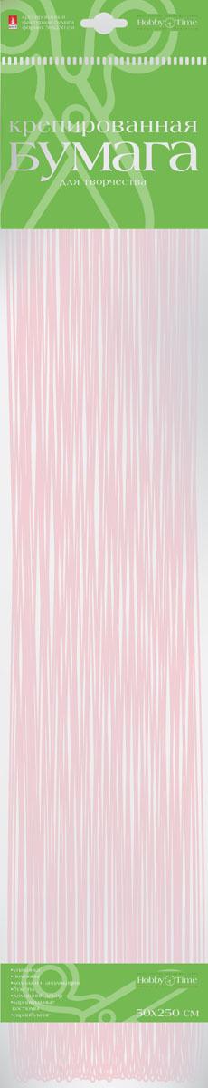 Альт Бумага креповая Перламутровая цвет розовый2-062/03Креповая бумага Альт Перламутровая - подходящий материал для декора, объемных украшений и игрушек. Гофрированная жатая поверхность обеспечивает особую пластичность. Бумага не деформируется, сохраняет заданную форму, отлично сочетается с текстильными лентами, декоративными элементами. Размер листа: 50 см х 250 см.
