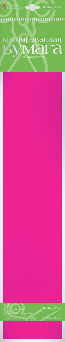 Альт Бумага креповая Флюоресцентная цвет розовый2-059/04Креповая бумага Альт Флюоресцентная - подходящий материал для декора, объемных украшений и игрушек. Гофрированная жатая поверхность обеспечивает особую пластичность. Бумага не деформируется, сохраняет заданную форму, отлично сочетается с текстильными лентами, декоративными элементами. Необычный флуоресцентный эффект создает легкое сияние, которое поможет создать атмосферу праздника. Размер листа: 50 см х 250 см.