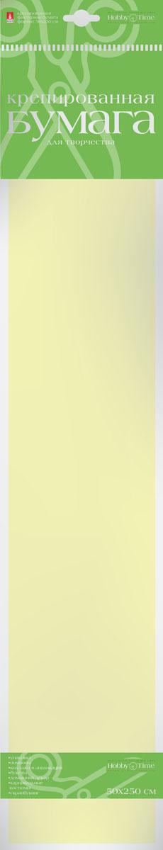 Альт Бумага креповая Пастельные цвета цвет кремовый