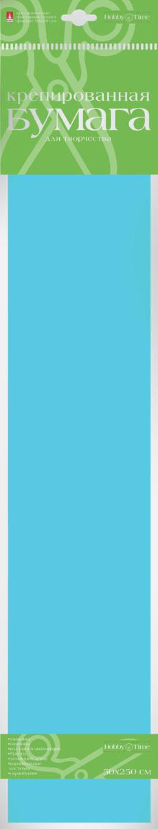 Альт Бумага креповая цвет голубой