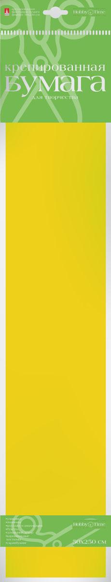 Альт Бумага креповая цвет желтая охра