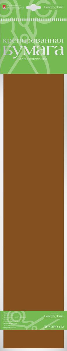 Альт Бумага креповая цвет темно-коричневый