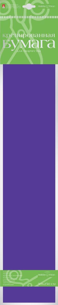 Альт Бумага креповая цвет фиолетовый2-060/04Креповая бумага Альт - подходящий материал для декора, объемных украшений и игрушек. Гофрированная жатая поверхность обеспечивает особую пластичность. Бумага не деформируется, сохраняет заданную форму, отлично сочетается с текстильными лентами, декоративными элементами. Размер листа: 50 см х 250 см.
