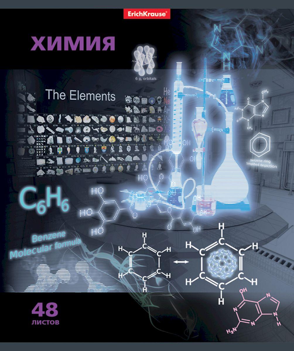 Erich Krause Тетрадь Videoterminal Химия 48 листов в клетку38917Тетрадь 48 листов. Обложка: картон мелованный 170 г/м2 Блок:бумага офсетная 60г/м2 .