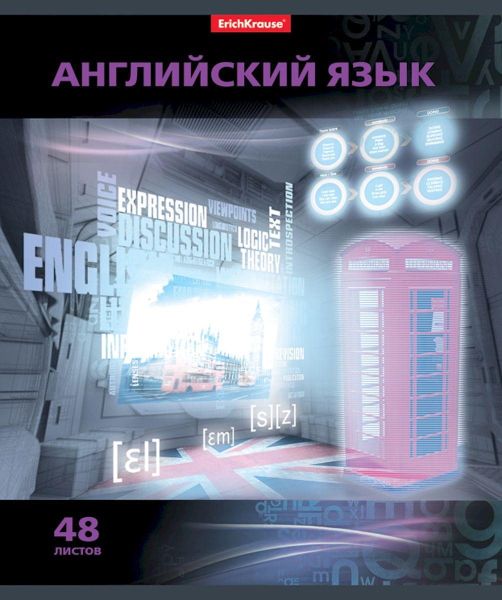 Erich Krause Тетрадь Videoterminal Английский язык 48 листов в клетку38922Тетрадь 48 листов. Обложка: картон мелованный 170 г/м2 Блок:бумага офсетная 60г/м2 .