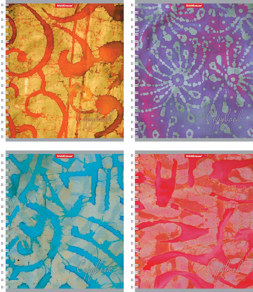 Erich Krause Тетрадь Батик 60 листов в клетку39975Тетрадь 60 листов а спирали. Обложка: картон мелованный 170 г/м2 Блок:бумага офсетная 55 г/м2 .