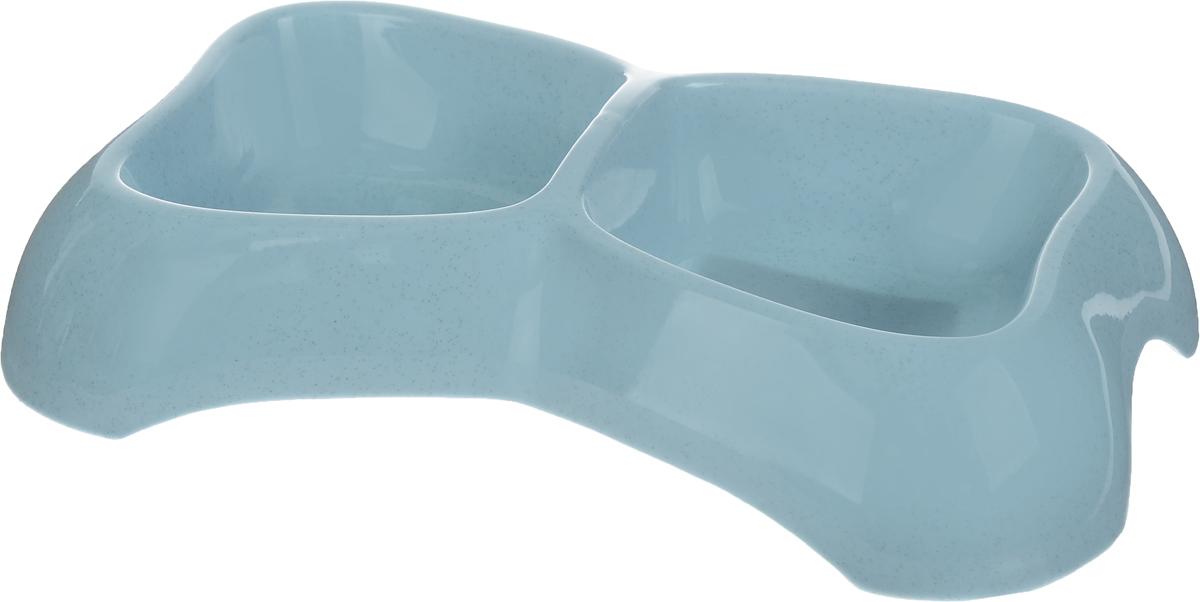 Миска для животных Каскад, двойная, цвет: серо-голубой, 400 мл. 83017078301707_серо-голубойДвойная миска Каскад - это функциональный аксессуар для собак, кошек и грызунов. Изделие, выполненное из высококачественного цветного пластика, оснащено противоскользящими вставками. В миску можно положить два разных блюда - в каждое отделение. Яркий дизайн придаст изделию индивидуальность и удовлетворит вкус самых взыскательных зоовладельцев. Объем отделения: 400 мл. Внутренний размер отделения (ДхШ): 11 х 12 см. Высота стенки отделения: 4,8 см. Общий размер миски: 30 х 18,7 х 6,5 см.
