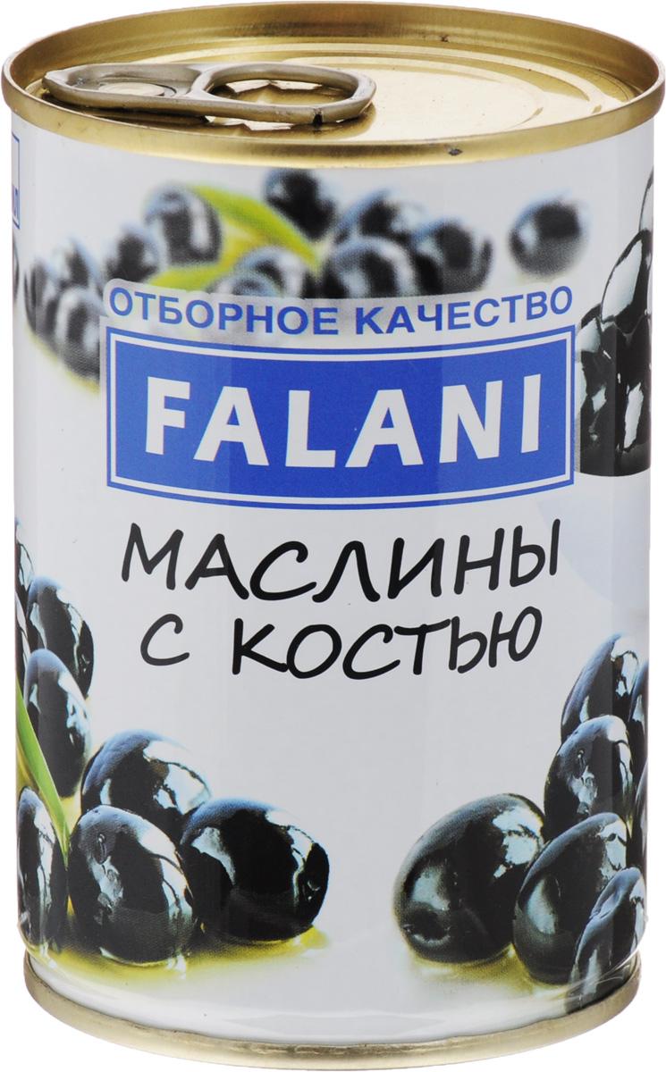 FALANI маслины с косточкой, 280 г4002442809230Маслины с косточкой FALANI из Испании отлично подойдут для украшения ваших блюд. С их помощью удастся оригинально оформить рыбные закуски, салаты, овощи, а также они идеально подойдут как самостоятельная закуска к винам.
