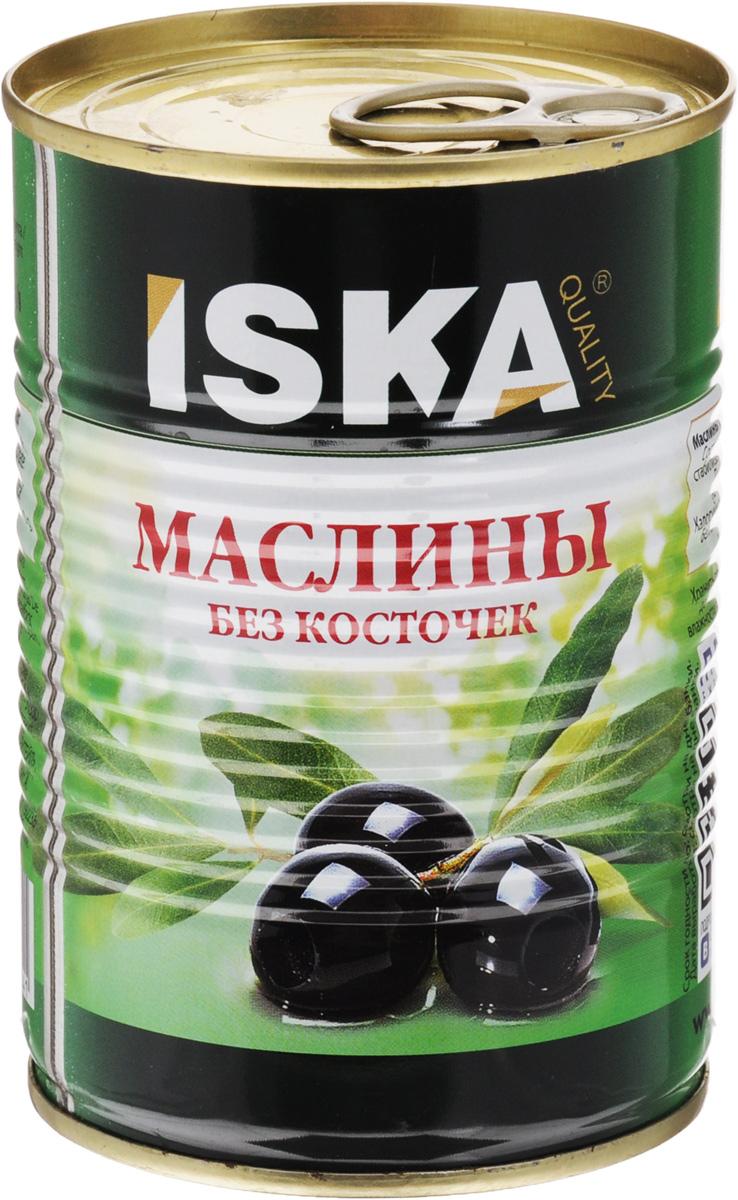 ISKA маслины отборные крупные без косточек, 390 г