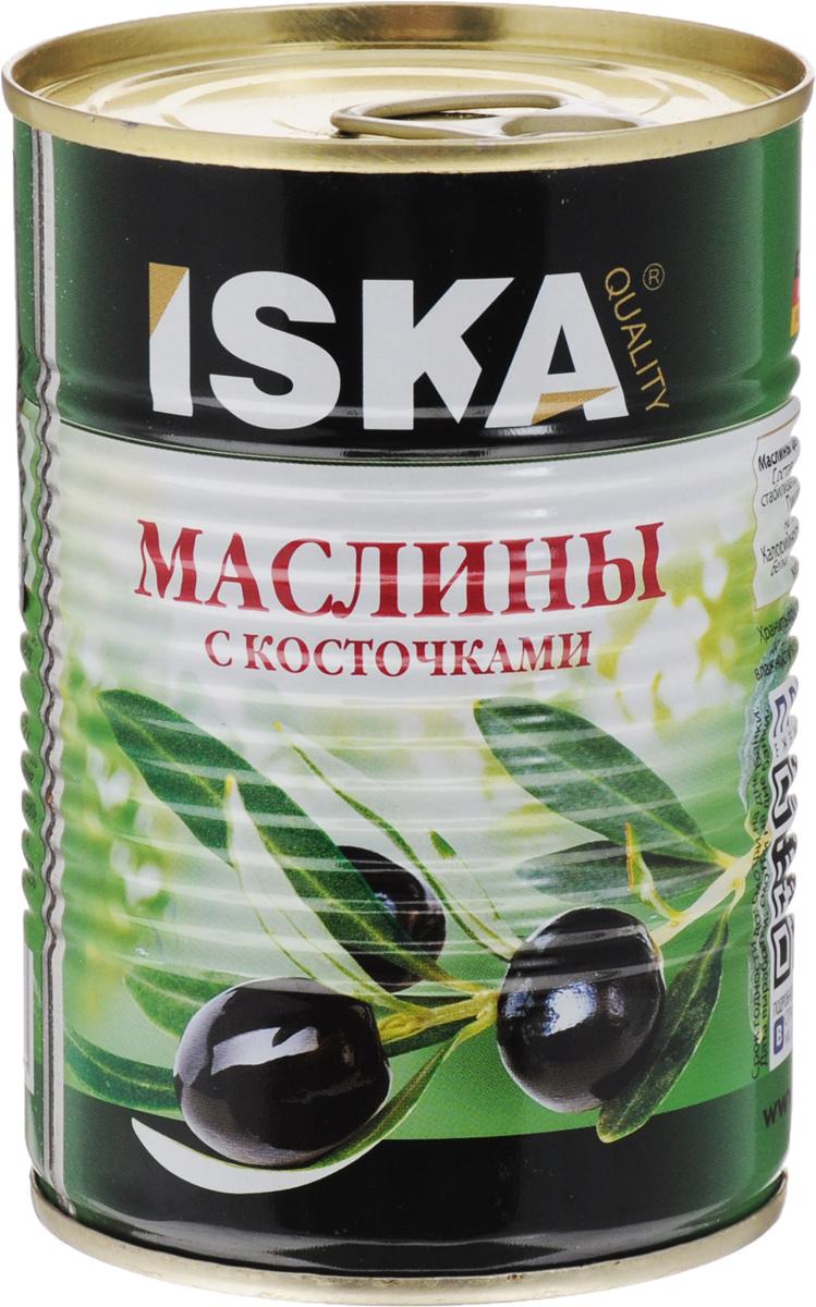 ISKA маслины отборные крупные c косточкой, 390 г