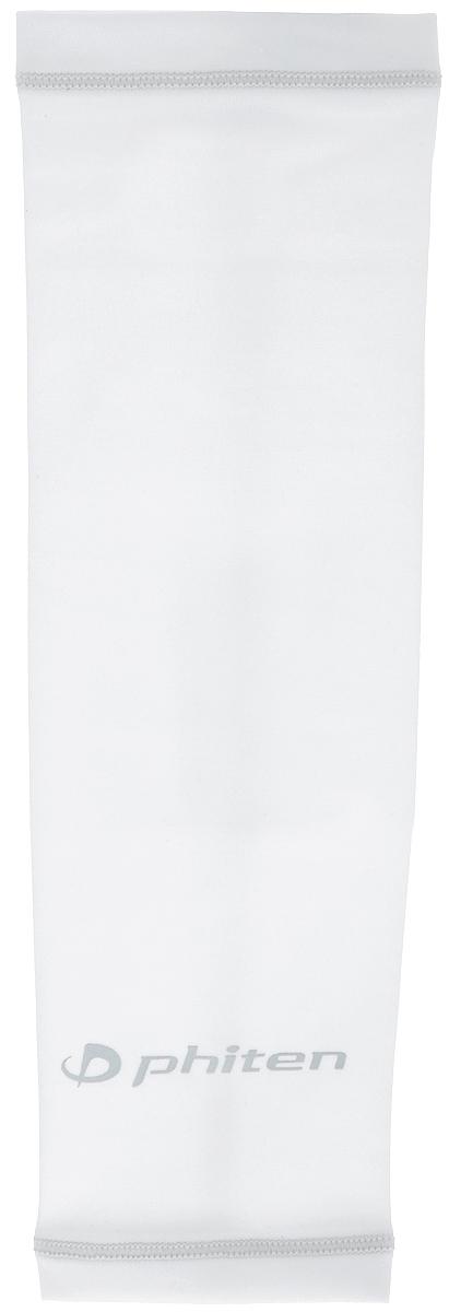 Рукав силовой Phiten X30, цвет: белый, серый. Размер S (19-25 см). SL523203SL523203Силовой рукав Phiten X30, выполненный из 85% полиэстера и 15% полиуретана, идеально подходит для поддержки и увеличения силы мышц (плеча/предплечия) спортсменов. Рукав снимает мышечное напряжение, повышает выносливость и силу мышц. Он мягко фиксирует суставы, но при этом абсолютно не стесняет движения. Пропитка Aqua Titan с фактором X30 увеличивает эластичность мышц и связок, а также хорошо поглощает и испарять пот, что позволяет продлить ощущение комфорта при тренировках. Изделие специально разработано таким образом, чтобы соответствовать форме руки и обеспечить плотное прилегание, а благодаря инновационным материалам, рукав действительно поможет вам в процессе тяжелой тренировки или любой серьезной нагрузки. Силовой рукав Phiten X30 способствует: - улучшению циркуляции крови в организме; - разгрузке поврежденного сустава; - уменьшению усталости; - снятию излишнего напряжения и скорейшему ...