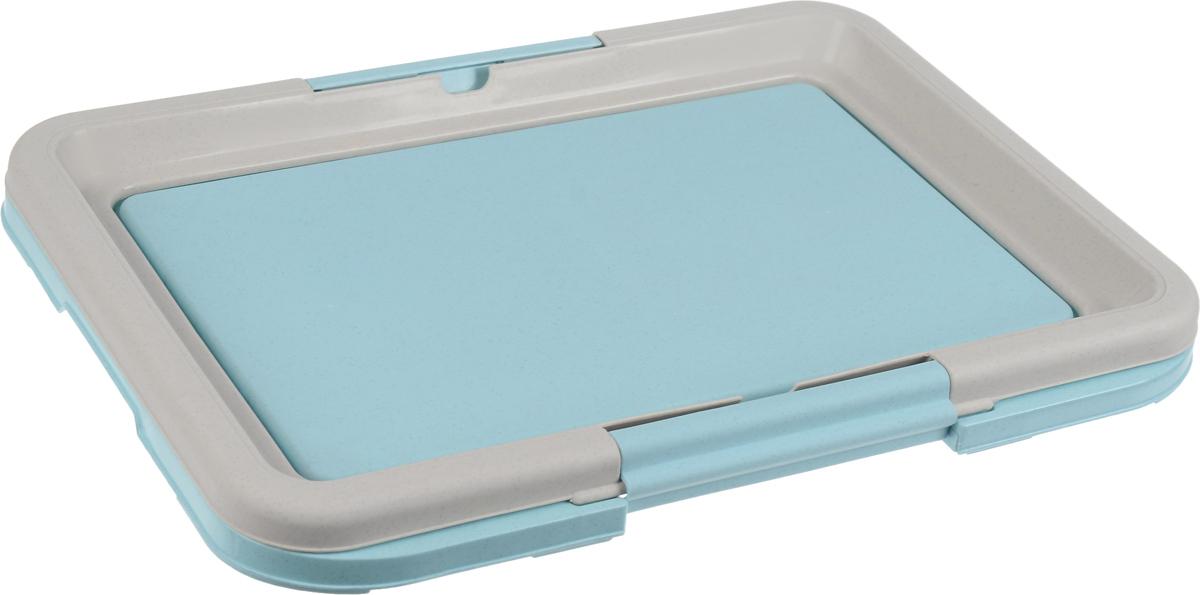 Туалет для собак Каскад, под пеленки, цвет: серый, голубой, 47 х 34 х 4 см9312220_серый, голубойТуалет Каскад, изготовленный из высококачественного пластика, предназначен для собак и щенков. Гигиеническая пеленка помещается под борт и удерживается боковыми фиксаторами. Туалет легко моется водой. Гигиеническая пеленка в комплект не входит.