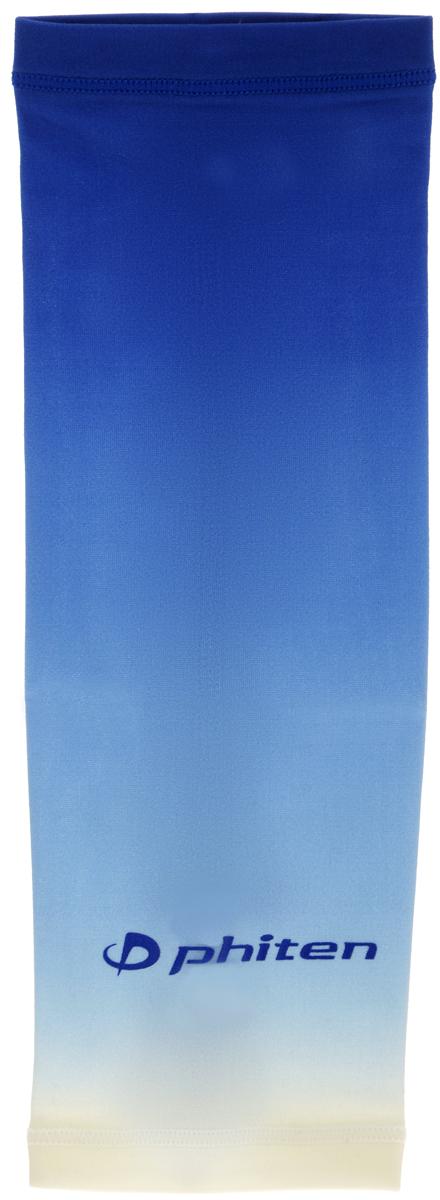 Рукав силовой Phiten X30, цвет: синий. Размер М (23-29 см). SL528104SL528104Силовой рукав Phiten X30, выполненный из 85% полиэстера и 15% полиуретана, идеально подходит для поддержки и увеличения силы мышц (плеча/предплечия) спортсменов. Рукав снимает мышечное напряжение, повышает выносливость и силу мышц. Он мягко фиксирует суставы, но при этом абсолютно не стесняет движения. Пропитка Aqua Titan с фактором X30 увеличивает эластичность мышц и связок, а также хорошо поглощает и испарять пот, что позволяет продлить ощущение комфорта при тренировках. Изделие специально разработано таким образом, чтобы соответствовать форме руки и обеспечить плотное прилегание, а благодаря инновационным материалам, рукав действительно поможет вам в процессе тяжелой тренировки или любой серьезной нагрузки. Силовой рукав Phiten X30 способствует: - улучшению циркуляции крови в организме; - разгрузке поврежденного сустава; - уменьшению усталости; - снятию излишнего напряжения и скорейшему ...