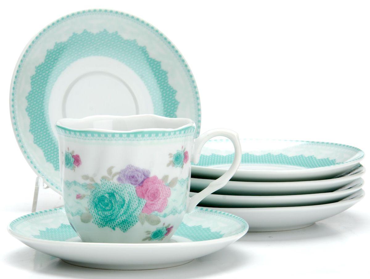 Чайный сервиз Loraine Цветы, 220 мл, 12 предметов. 2591225912
