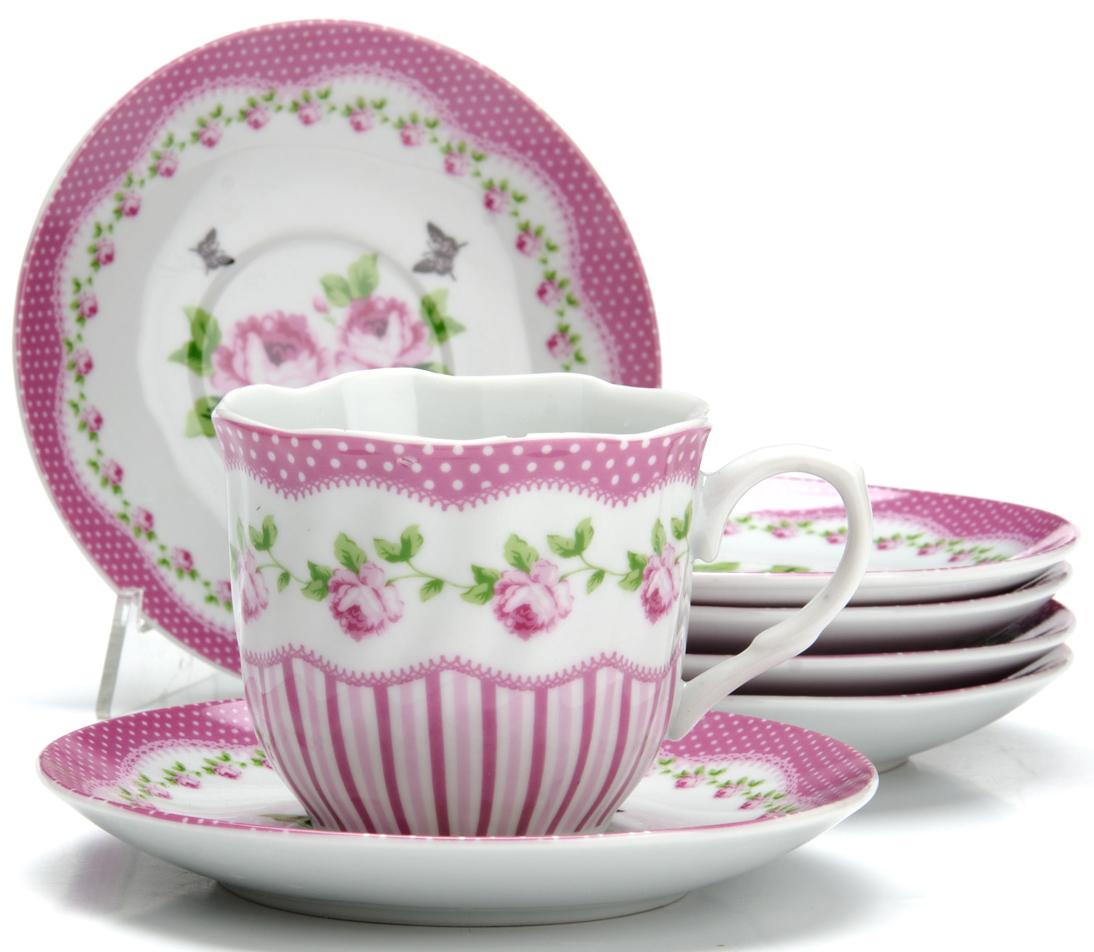 Чайный сервиз Loraine Цветы, 220 мл, 12 предметов. 2591625916