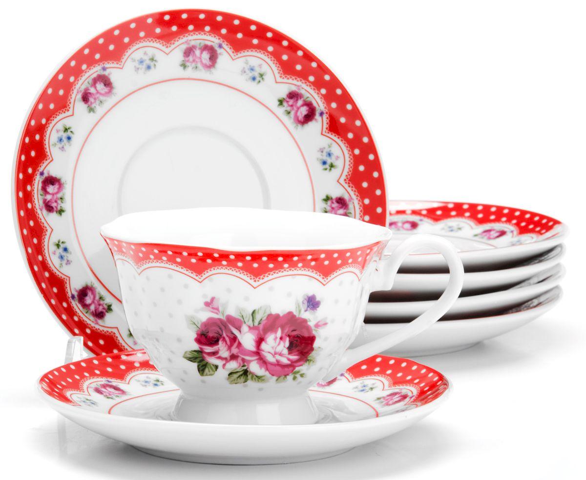 Чайный сервиз Loraine Цветы, 150 мл, 12 предметов. 2591725917