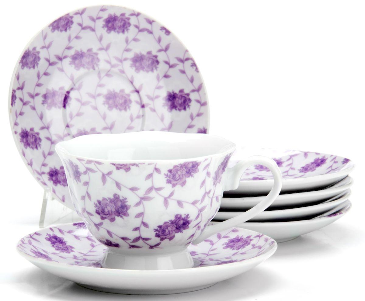 Чайный сервиз Loraine Цветы, 150 мл, 12 предметов. 2591825918
