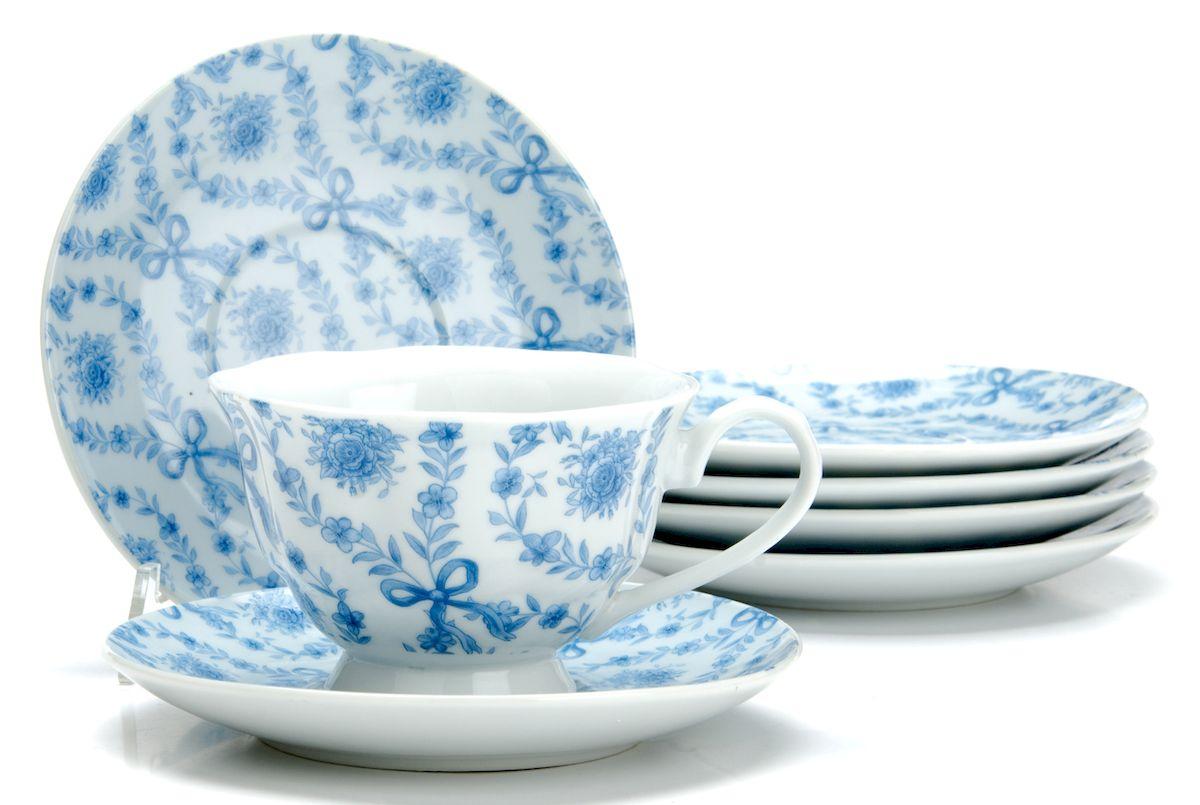 Чайный сервиз Loraine Цветы, 150 мл, 12 предметов. 2591925919