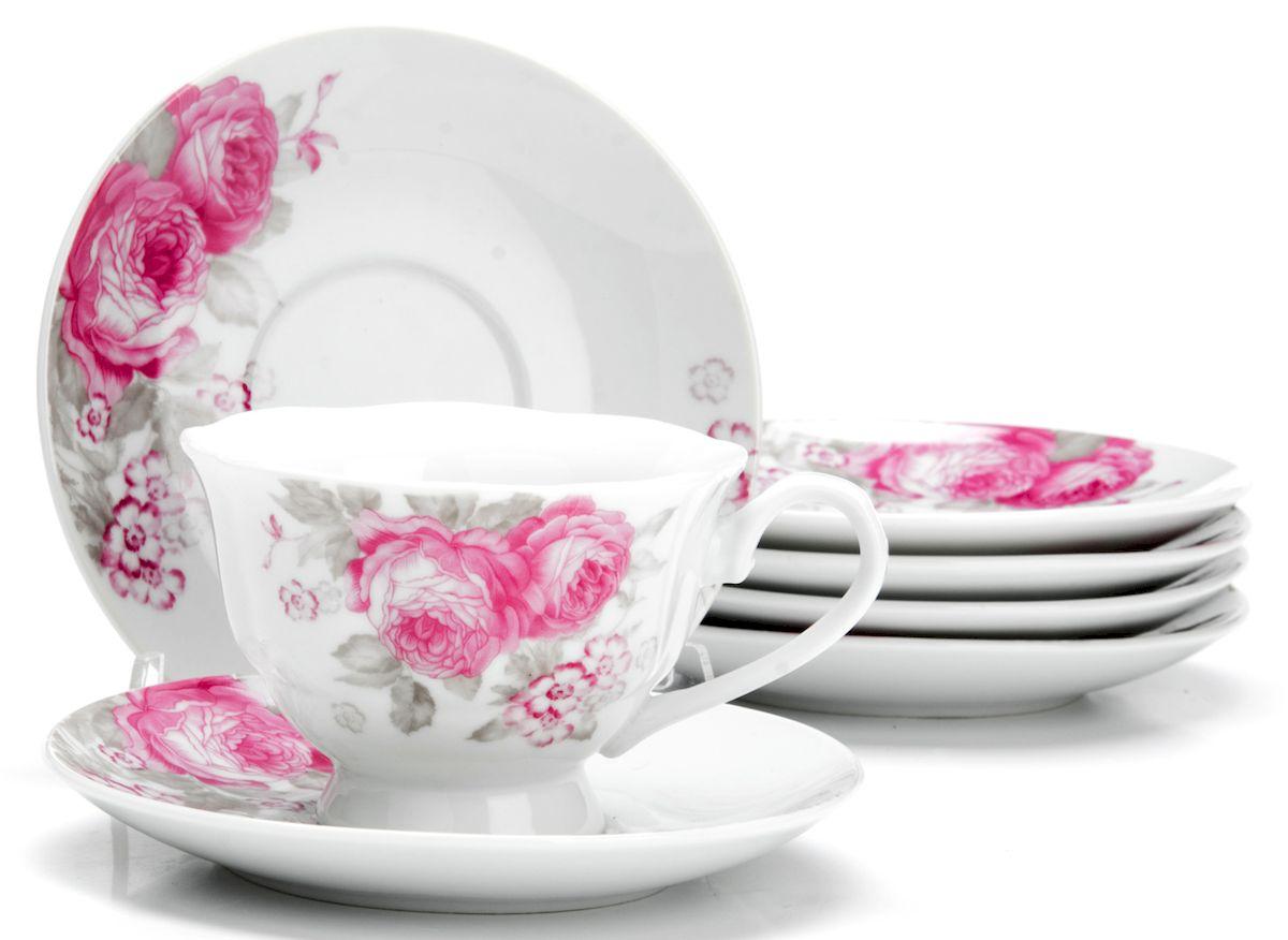 Чайный сервиз Loraine Цветы, 150 мл, 12 предметов. 2592025920