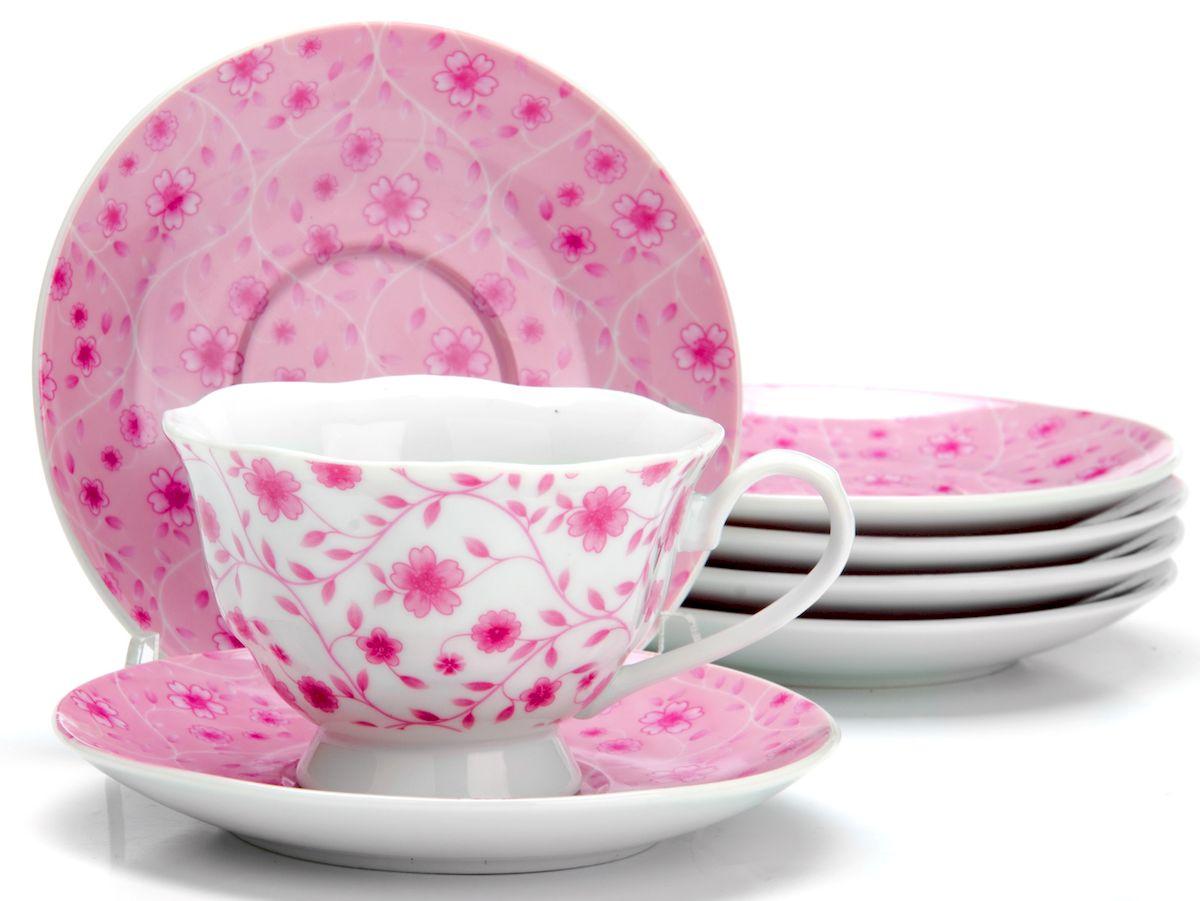 Чайный сервиз Loraine Цветы, 150 мл, 12 предметов. 2592225922