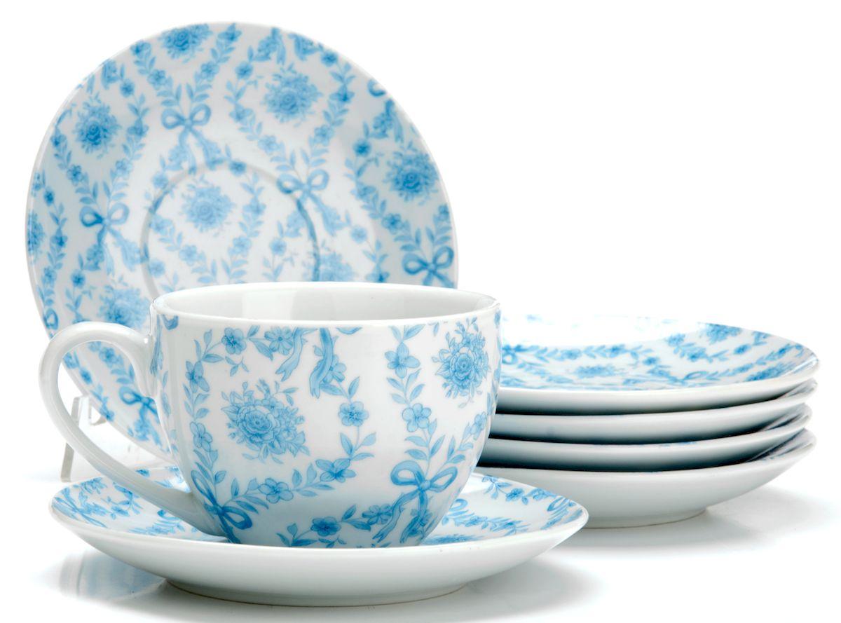 Чайный сервиз Loraine Цветы, 220 мл, 12 предметов. 2592325923