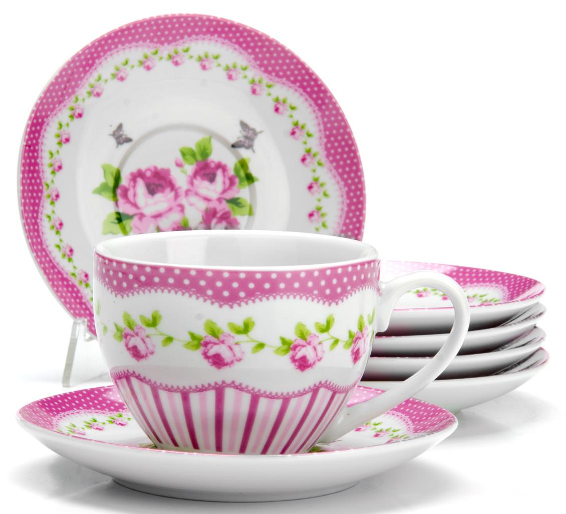 Чайный сервиз Loraine Цветы, 220 мл, 12 предметов. 2592425924