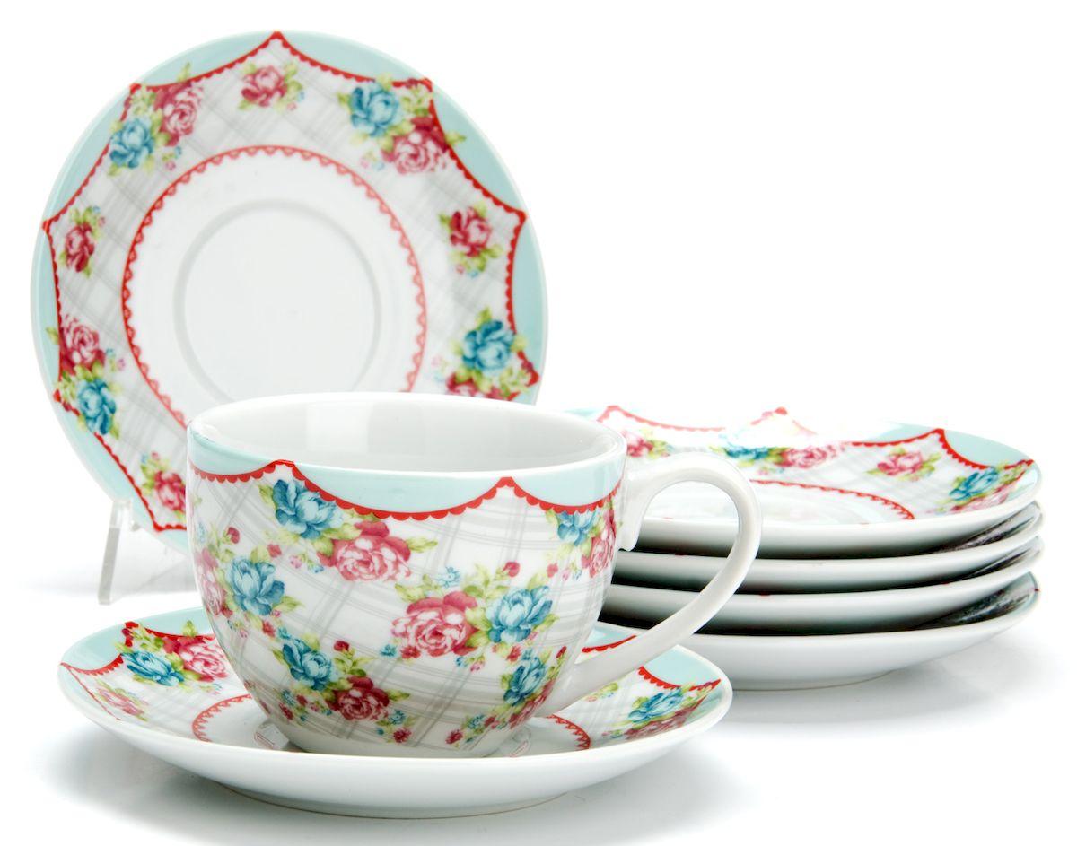 Чайный сервиз Loraine Цветы, 220 мл, 12 предметов. 2592525925