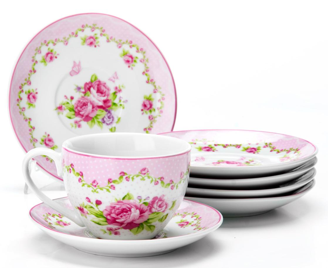 Чайный сервиз Loraine Цветы, 220 мл, 12 предметов. 2592625926