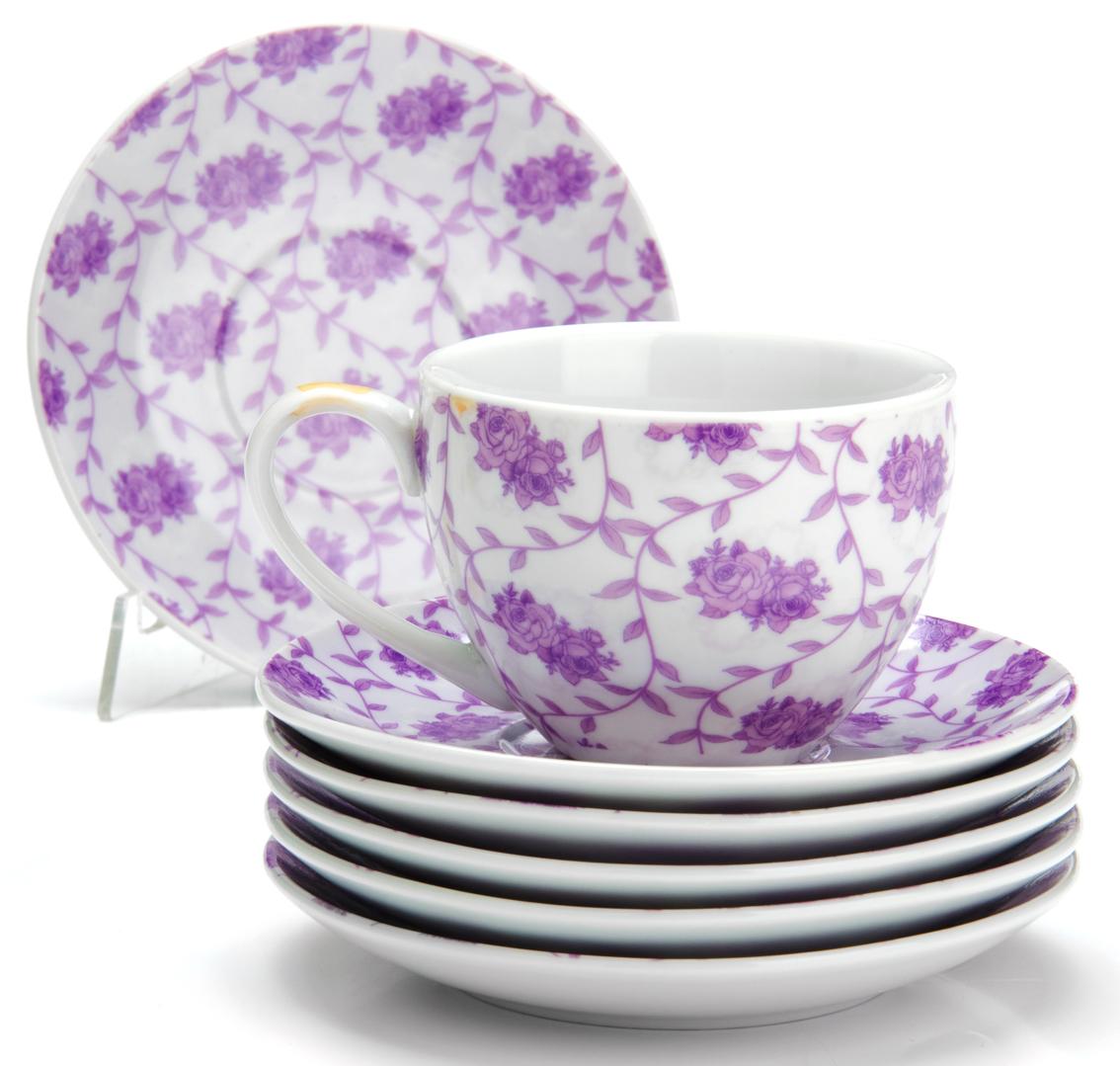 Чайный сервиз Loraine Цветы, 220 мл, 12 предметов. 2592825928