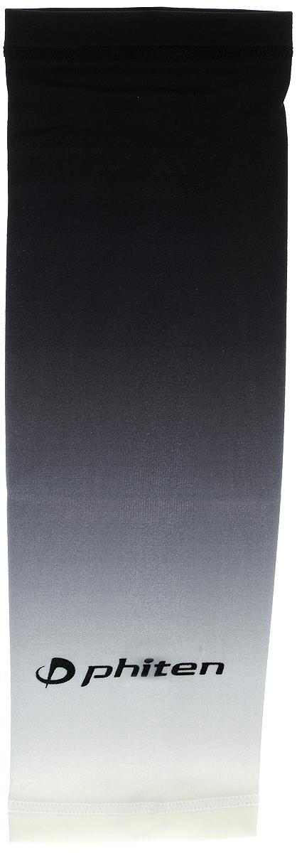 Рукав силовой Phiten X30, цвет: черный, серый, белый. Размер М (23-29 см). SL528004SL528004Силовой рукав Phiten X30, выполненный из 85% полиэстера и 15% полиуретана, идеально подходит для поддержки и увеличения силы мышц (плеча/предплечия) спортсменов. Рукав снимает мышечное напряжение, повышает выносливость и силу мышц. Он мягко фиксирует суставы, но при этом абсолютно не стесняет движения. Пропитка Aqua Titan с фактором X30 увеличивает эластичность мышц и связок, а также хорошо поглощает и испарять пот, что позволяет продлить ощущение комфорта при тренировках. Изделие специально разработано таким образом, чтобы соответствовать форме руки и обеспечить плотное прилегание, а благодаря инновационным материалам, рукав действительно поможет вам в процессе тяжелой тренировки или любой серьезной нагрузки. Силовой рукав Phiten X30 способствует: - улучшению циркуляции крови в организме; - разгрузке поврежденного сустава; - уменьшению усталости; - снятию излишнего напряжения и скорейшему ...