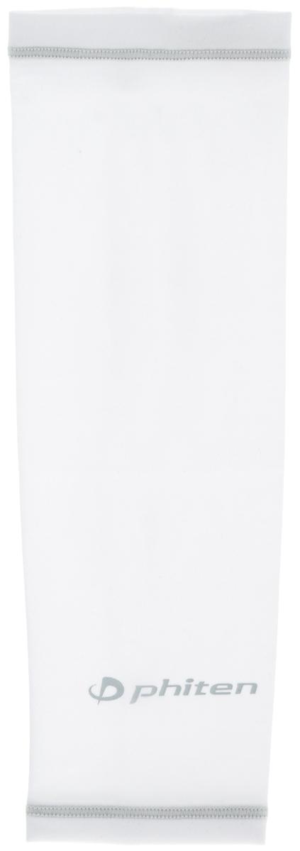 Рукав силовой Phiten X30, цвет: белый, серый. Размер L (26-32 см). SL523205SL523205Силовой рукав Phiten X30, выполненный из 85% полиэстера и 15% полиуретана, идеально подходит для поддержки и увеличения силы мышц (плеча/предплечия) спортсменов. Рукав снимает мышечное напряжение, повышает выносливость и силу мышц. Он мягко фиксирует суставы, но при этом абсолютно не стесняет движения. Пропитка Aqua Titan с фактором X30 увеличивает эластичность мышц и связок, а также хорошо поглощает и испарять пот, что позволяет продлить ощущение комфорта при тренировках. Изделие специально разработано таким образом, чтобы соответствовать форме руки и обеспечить плотное прилегание, а благодаря инновационным материалам, рукав действительно поможет вам в процессе тяжелой тренировки или любой серьезной нагрузки. Силовой рукав Phiten X30 способствует: - улучшению циркуляции крови в организме; - разгрузке поврежденного сустава; - уменьшению усталости; - снятию излишнего напряжения и скорейшему ...