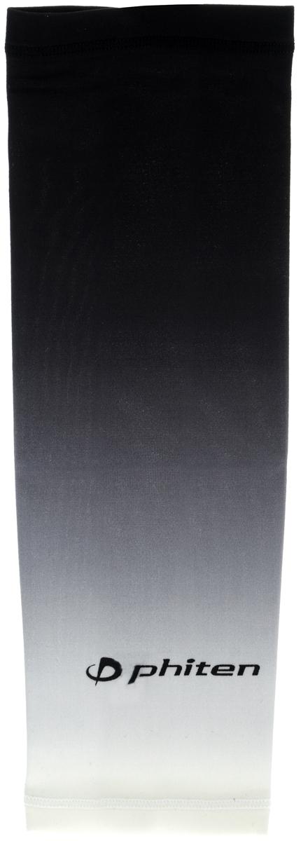 Рукав силовой Phiten X30, цвет: черный, серый, белый. Размер L (26-32 см). SL528005SL528005Силовой рукав Phiten X30, выполненный из 85% полиэстера и 15% полиуретана, идеально подходит для поддержки и увеличения силы мышц (плеча/предплечия) спортсменов. Рукав снимает мышечное напряжение, повышает выносливость и силу мышц. Он мягко фиксирует суставы, но при этом абсолютно не стесняет движения. Пропитка Aqua Titan с фактором X30 увеличивает эластичность мышц и связок, а также хорошо поглощает и испарять пот, что позволяет продлить ощущение комфорта при тренировках. Изделие специально разработано таким образом, чтобы соответствовать форме руки и обеспечить плотное прилегание, а благодаря инновационным материалам, рукав действительно поможет вам в процессе тяжелой тренировки или любой серьезной нагрузки. Силовой рукав Phiten X30 способствует: - улучшению циркуляции крови в организме; - разгрузке поврежденного сустава; - уменьшению усталости; - снятию излишнего напряжения и скорейшему ...
