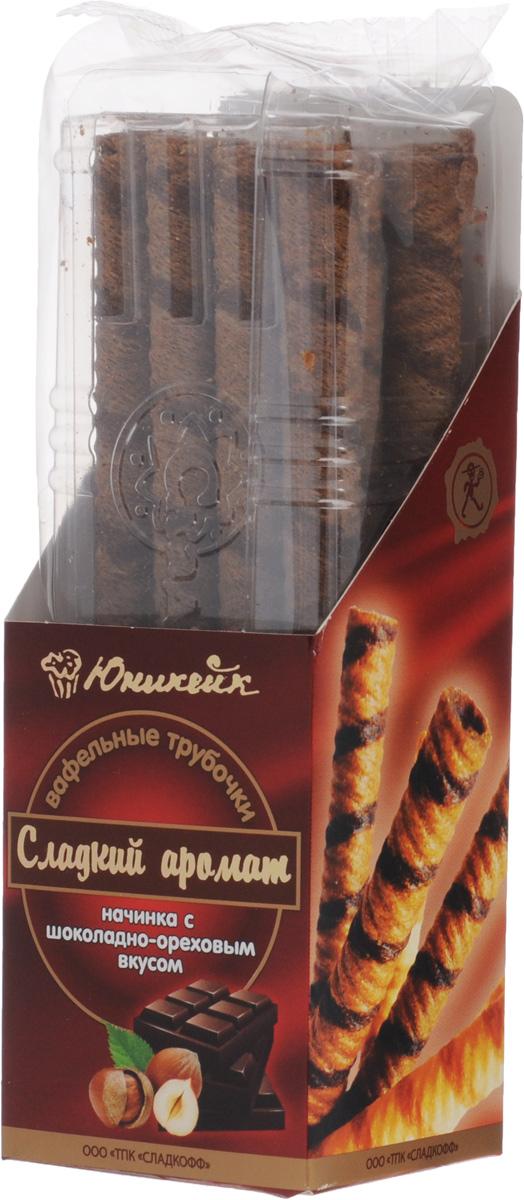 Юникейк Сладкий аромат вафельные трубочки с шоколадно-ореховой начинкой, 180 г4607105138049Юникейк Сладкий аромат - хрустящие вафельные трубочки с изысканным шоколадно-ореховым вкусом. Это настоящая находка для сладкоежек!