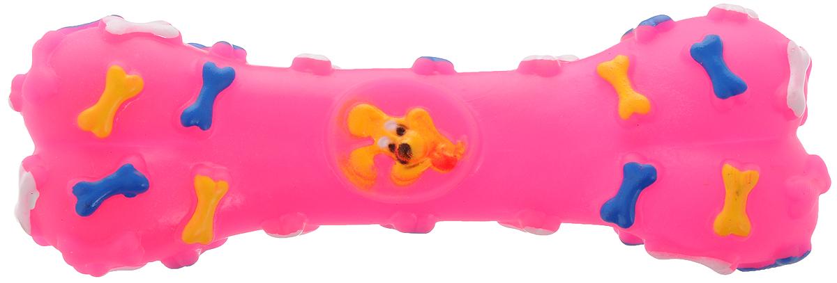 Игрушка для животных Каскад Косточка, с пищалкой, цвет: розовый, длина 16 см27799279_розовыйИгрушка Каскад Косточка изготовлена из прочной и долговечной резины, которая устойчива к разгрызанию. Необычная и забавная игрушка прекрасно подойдет для собак, любящих игрушки с пищалками. Размер: 16 х 5 х 3 см.