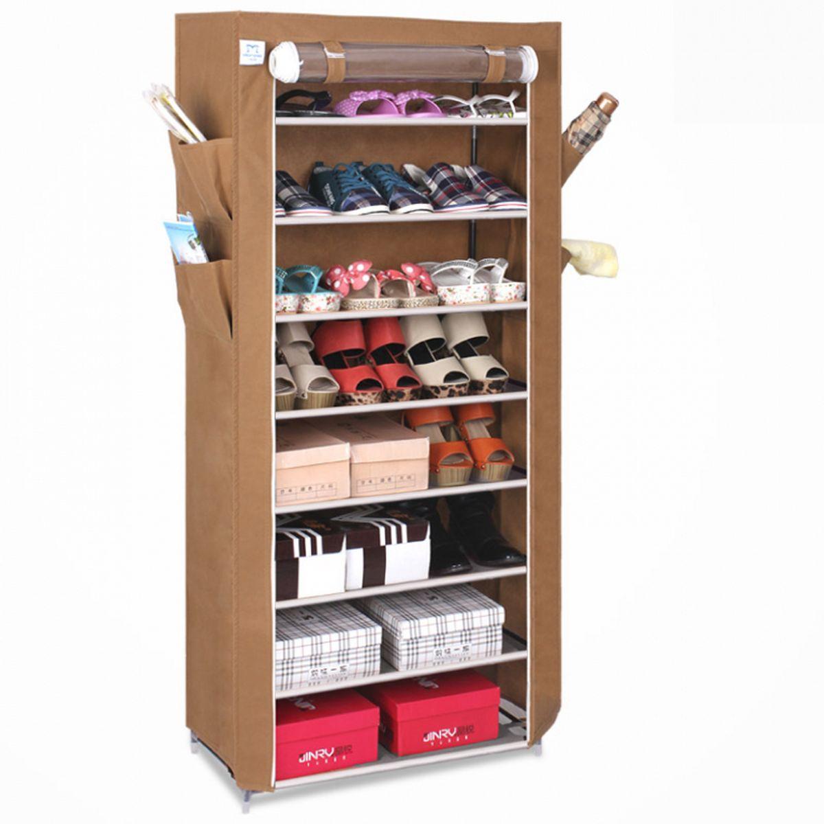 Тканевый шкаф для обуви и аксессуаров Homsu Элис, цвет: коричневый, 60 x 30 x 136 смHOM-101Этот шкаф предназначен для комфортного, практичного и удобного хранения обуви и других предметов в вашем доме. Выполненный в коричневом цвете, такой шкаф вполне может стать полноценным дополнением к вашей уютной домашней обстановке. 8 полок для обуви, шириной 60 см и глубиной 30 см плюс боковые кармашки для тапочек, зонтов и всяких мелочей надолго обеспечат полный порядок в прихожей. Фактический цвет может отличаться от заявленного.