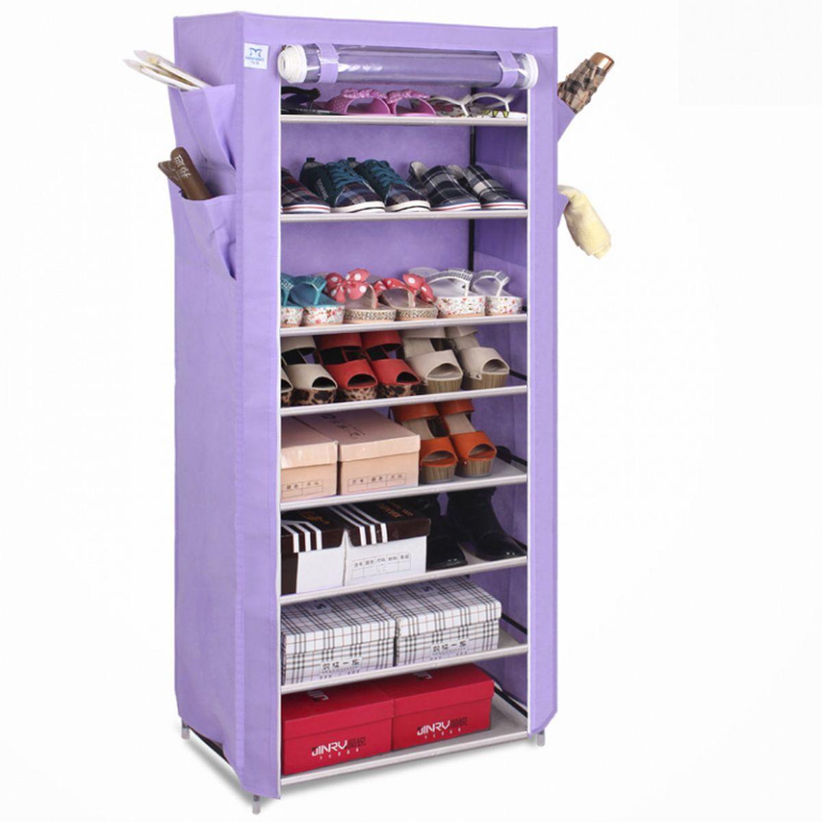 Шкаф для обуви и аксессуаров Homsu Элис, 8 полок, 60 x 30 x 136 смHOM-106Шкаф для обуви и аксессуаров Homsu Элис выполнен из текстиля. Этот шкаф предназначен для комфортного, практичного и удобного хранения обуви и других предметов в вашем доме. Такой шкаф вполне может стать полноценным дополнением к вашей уютной домашней обстановке. Изделие имеет боковые кармашки для тапочек, зонтов и всяких мелочей и 8 полок для обуви шириной 60 см и глубиной 30 см.