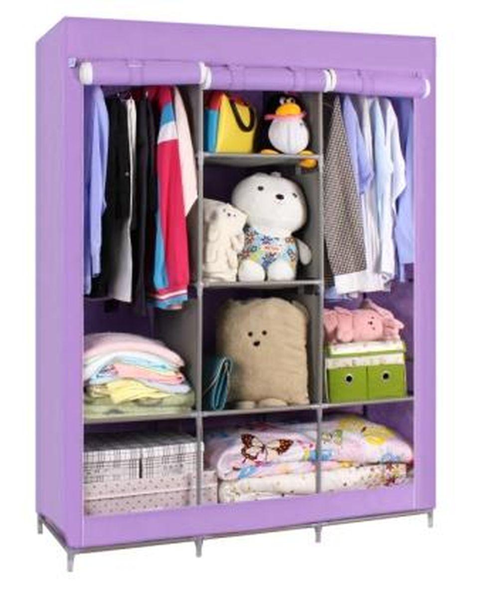Шкаф Homsu Онтарио, цвет: фиолетовый, 130 x 45 x 172 смHOM-109Шкаф Homsu Онтарио выполнен из текстиля. Сборная конструкция такого шкафа состоит из металлических деталей каркаса, обтянутых сверху прочной и легкой тканью. Этот шкаф предназначен в создании полноценного порядка. Изделие имеет 6 полок для складывания одежды 40 х 45 см и двумя отделениями для подвешивания одежды. Кроме своей большой практичной пользы, данный мебельный предмет также сможет очень выгодно дополнить имеющийся интерьер в помещении. Верхняя тканевая обивка, при этом, всегда может быть легко и быстро снята, если ее необходимо будет постирать или заменить.