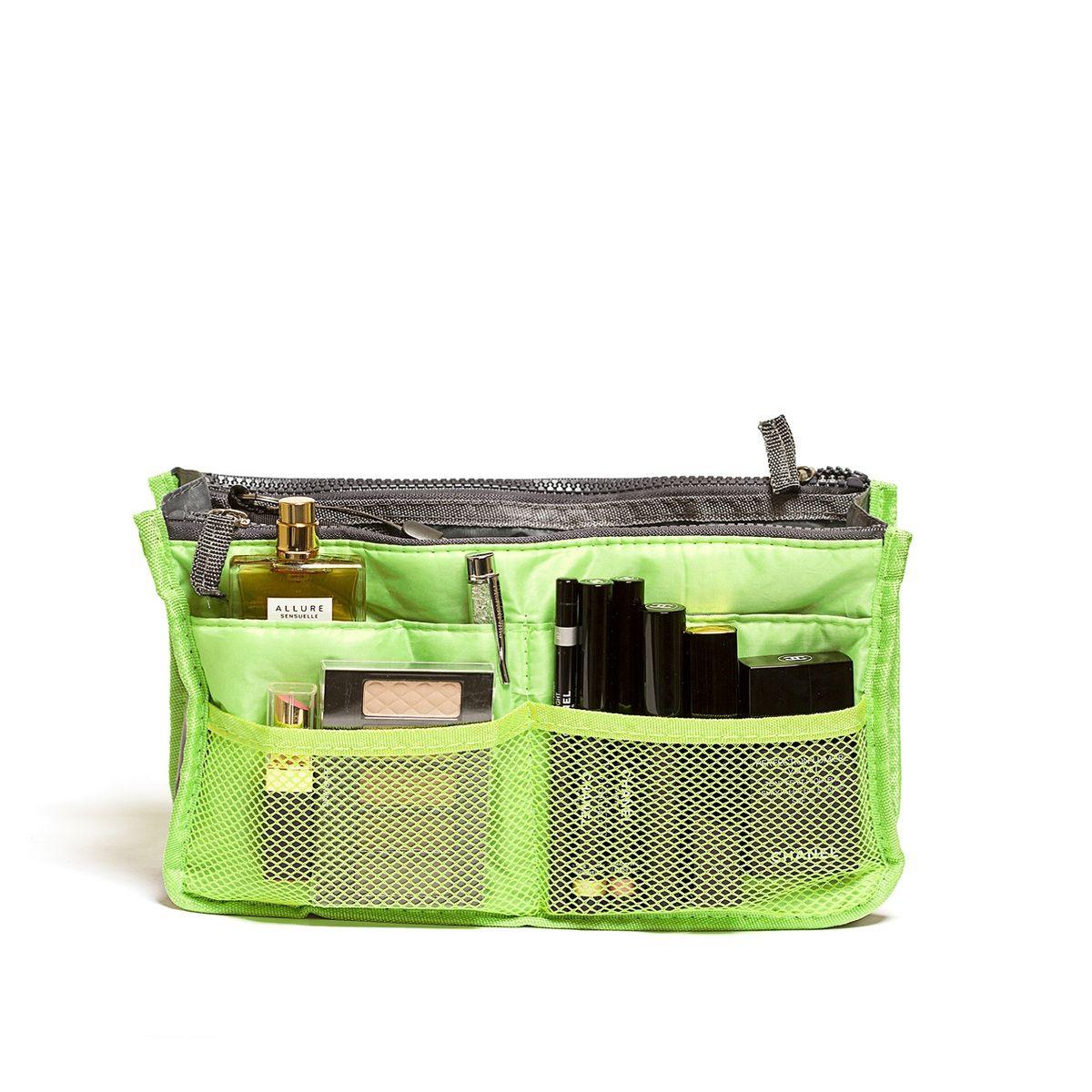 Органайзер для сумки Homsu, цвет: светло-зеленый, 30 x 8,5 x 18,5 смHOM-142Органайзер для сумки Homsu выполнен из полиэстера и текстиля. Этот органайзер для сумки имеет три вместительных отделениях для вещей, четыре кармашка по бокам и шесть кармашков в виде сетки. Такой органайзер обеспечит полный порядок в вашей сумке. Данный аксессуар обладает быстрой регулировкой толщины с помощью кнопок. Органайзер оснащен двумя крепкими ручками, что позволяет применять его и вне сумки.
