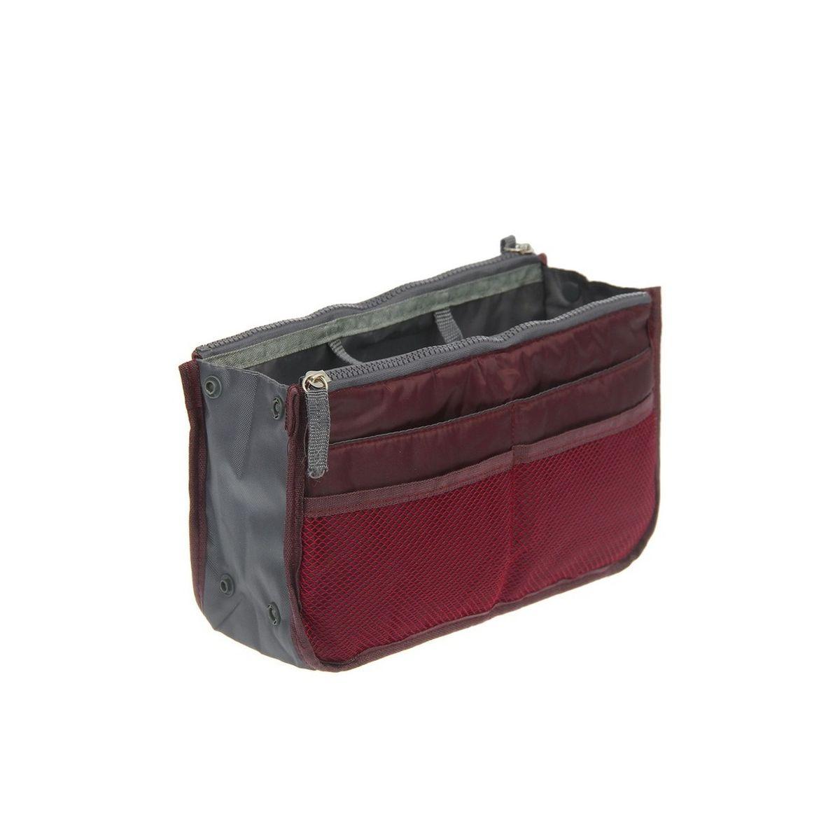 Органайзер для сумки Homsu, цвет: кофейный, 30 x 8,5 x 18,5 смHOM-143Этот органайзер для сумки благодаря трем вместительным отделениям для вещей, четырем кармашкам по бокам и шести кармашкам в виде сетки обеспечит полный порядок в вашей сумке. Кроме того, изделие обладает интересным стилем, выполнено в коричневом цвете и оснащёно двумя крепкими ручками, что позволяет применять его и вне сумки, как отдельный аксессуар. Фактический цвет может отличаться от заявленного.