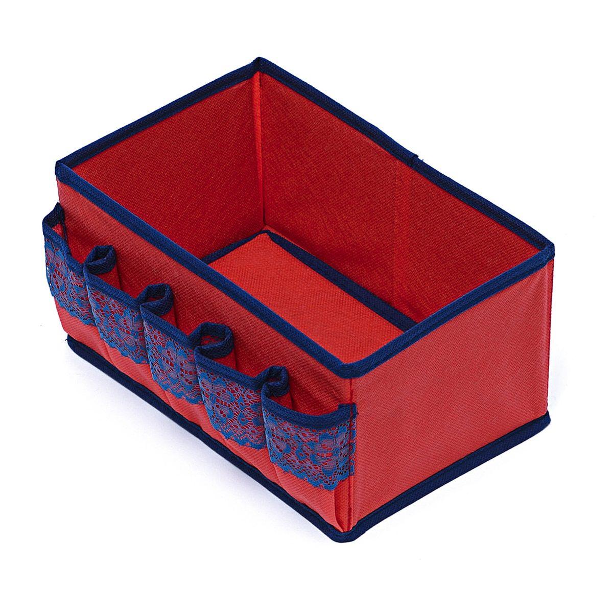 Коробочка Homsu Rosso для косметики и мелочей, 25 х 15 х 12 смHOM-318Универсальная коробочка для хранения любых вещей. Оптимальный размер позволяет хранить в ней любые вещи и предметы. Идеально подходит в шкафы различных серий. Фактический цвет может отличаться от заявленного.