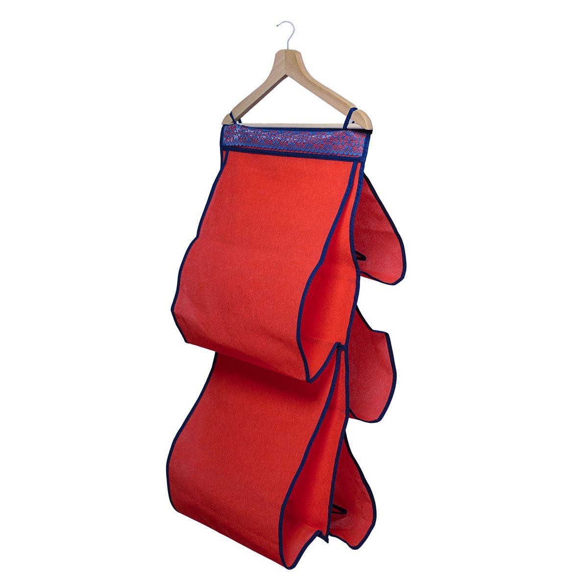 Органайзер для сумок Homsu Rosso, 40 х 70 смHOM-320Органайзер для хранения сумок Homsu Rosso изготовлен из полиэстера. Изделие имеет 5 отделений, его можно повесить в удобное место за крючки. Такой компактный и удобный в каждодневном использовании аксессуар, как этот органайзер, размещающийся в пространстве шкафа, на плоскости стены или дверей. Практичный и удобный органайзер для хранения сумок. Размер чехла: 40 х 70 см.