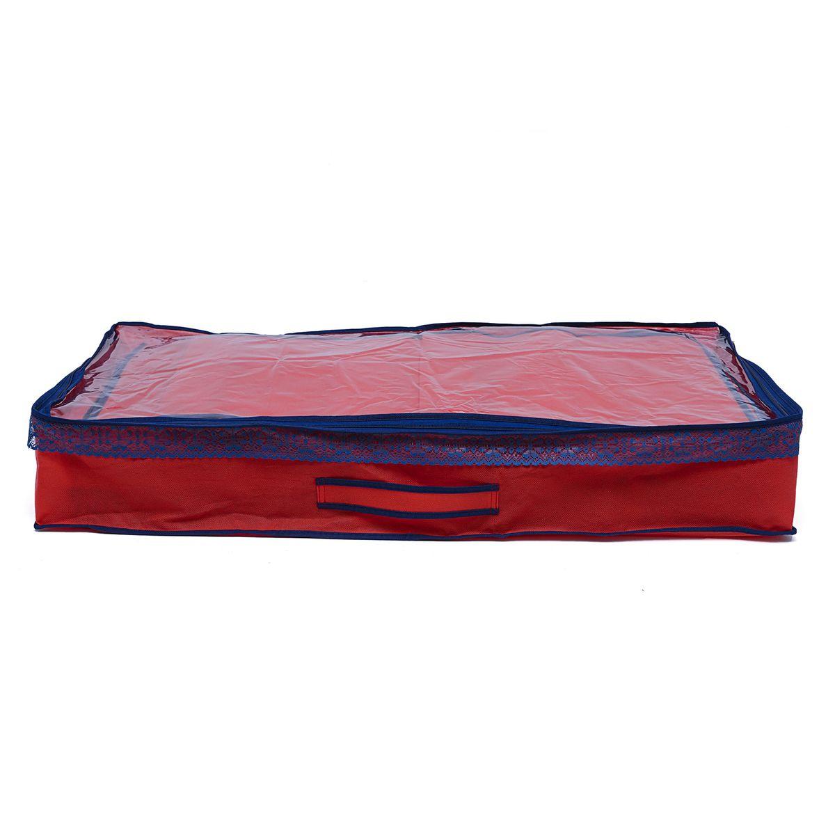 Чехол для одеял Homsu Rosso, 90 х 45 х 15 смHOM-323Очень удобный способ хранить одеяла и белье. Большой отсек размером 90 см на 45 см и высотой 12 см. Органайзер плоский, удобно хранить под кроватью или диваном. Фактический цвет может отличаться от заявленного.