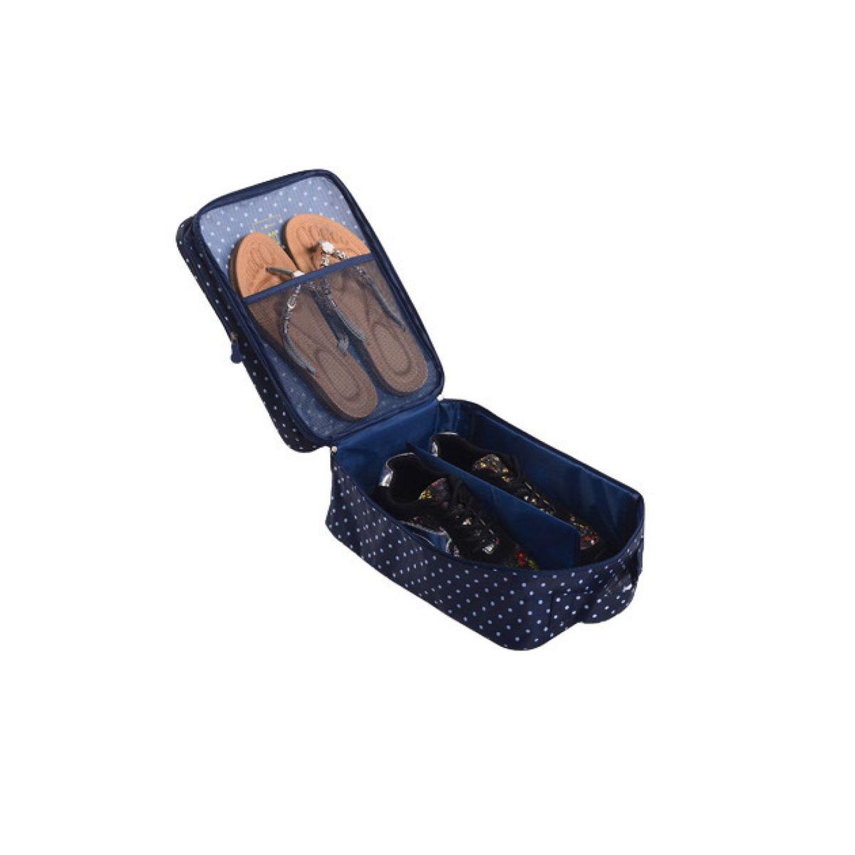 Органайзер для обуви Homsu, 32 x 20 x 13 смHOM-410Органайзер для обуви Homsu изготовлен из 100% полиэстера. Экономичная замена пластиковым пакетам и громоздким коробкам. Органайзер закрывается на молнию. Имеется ручка для удобной переноски. Внутри органайзер разделен на 2 отделения для обуви с дополнительным сетчатым кармашком. Очень компактный и очень удобный, такой органайзер поможет вам хранить обувь в чистоте и порядке. Размер: 32 х 20 х 13 см.