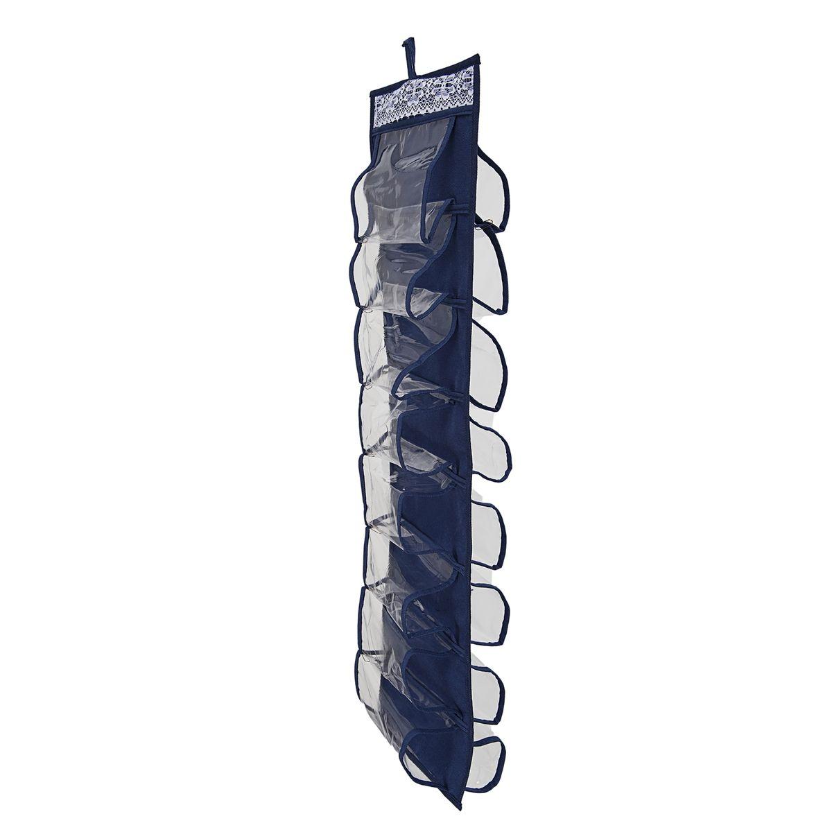 Органайзер для хранения шарфов и мелочей Homsu Winter, подвесной, 20 х 80 смHOM-452Подвесной двусторонний органайзер для хранения Homsu Winter изготовлен из высококачественного нетканого материала (полиэстер). Изделие позволяет сохранить естественную вентиляцию, а воздуху свободно проникать внутрь, не пропуская пыль. Органайзер оснащен 16 раздельными секциями. Идеально подходит для хранения разных мелочей в шкафу. Мобильность конструкции обеспечивает складывание и раскладывание одним движением. Размер органайзера: 20 х 80 см.